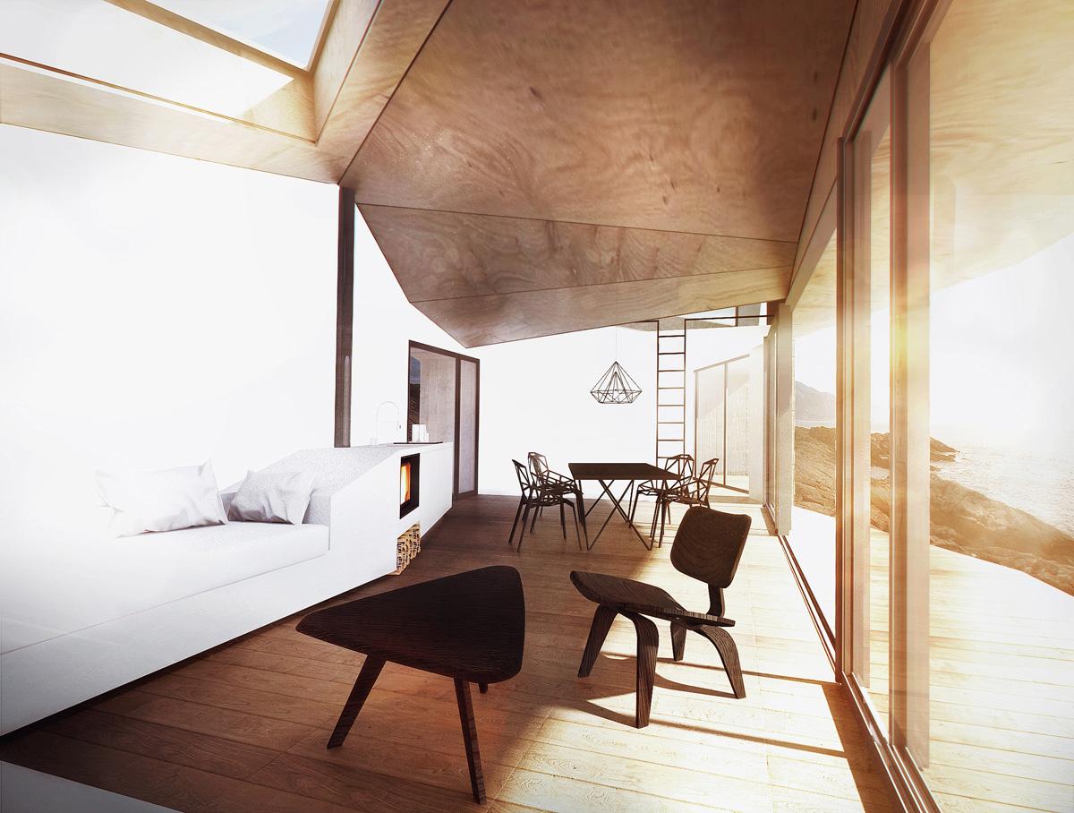 habitat de loisir ou maison de vacances épuré dans un style scandinave