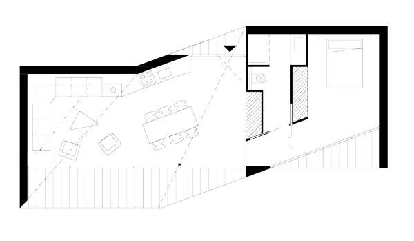habitat de loisir ou maison de vacances épuré et minimaliste