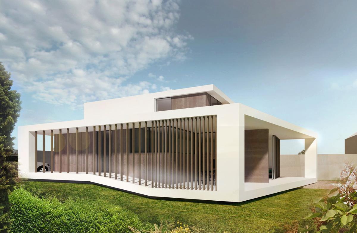 maison contemporaine a caluire et cuire avec un clostrat exterieur et de larges baies vitrees