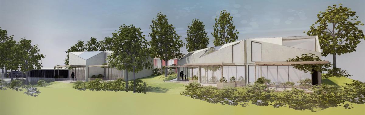 maison individuelle dans un co quartier contemporain dans louest de lyon jardin - Architecture Contemporaine Maison Individuelle