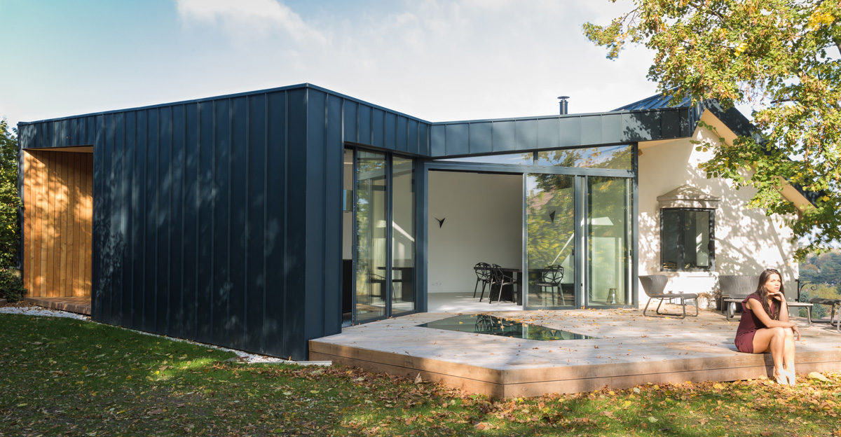 Edut dank architectes for Extension sur terrasse