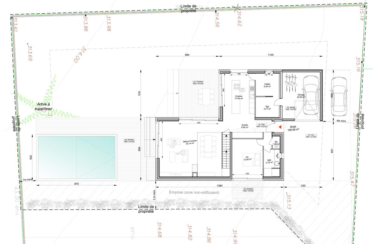 Maison-contemporain-architecte-croquis_Plan-RDC