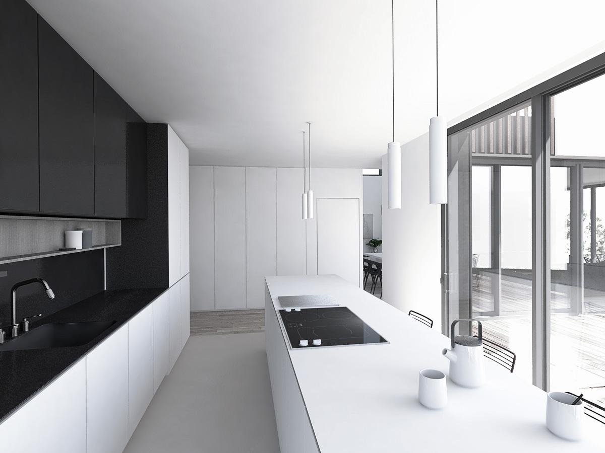 Vue-cuisine-ilot-noir-et-blanc-minimaliste