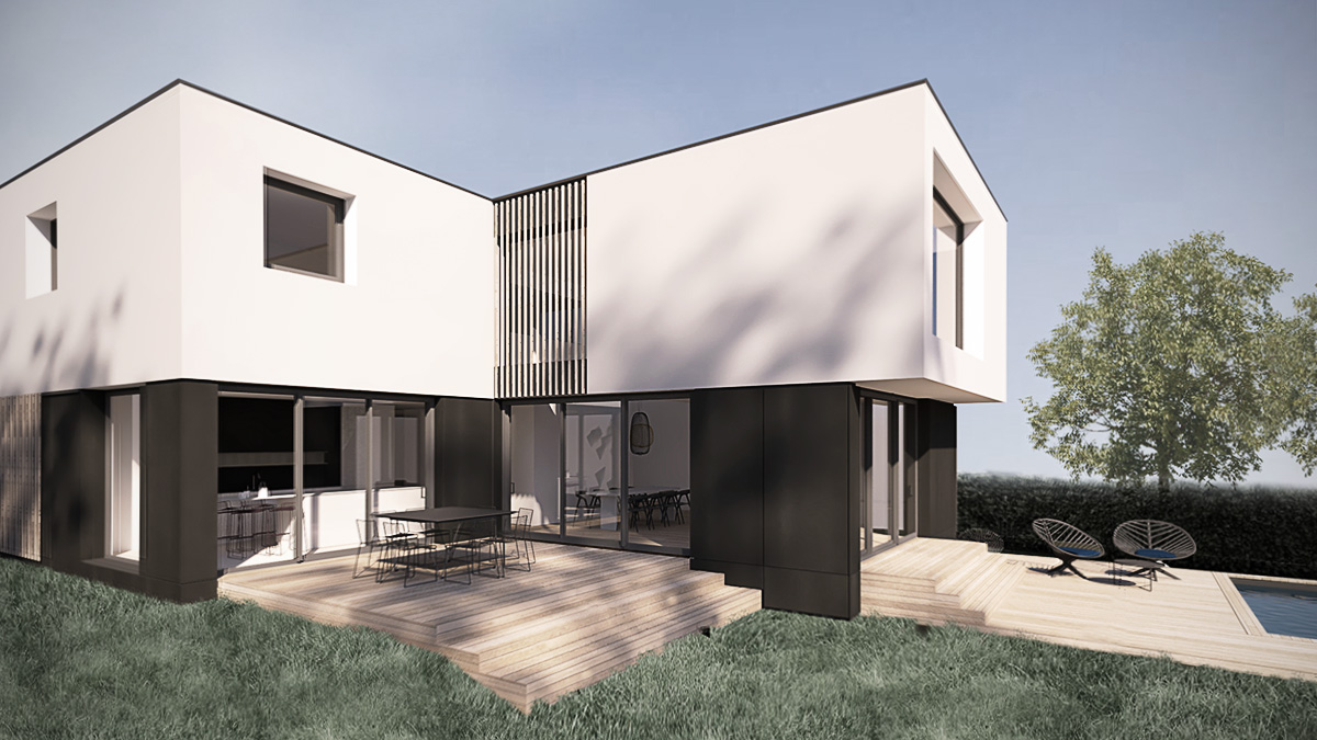 maison-neuve-contemporaine-architecte-minimaliste-cube-blanc-piscine-tasseau-terrasse-bois-bardage