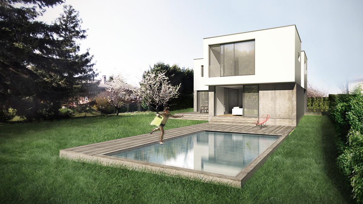 maison-neuve-contemporaine-architecte-minimaliste-cube-blanc-piscine-tasseau-terrasse-bois-perspective
