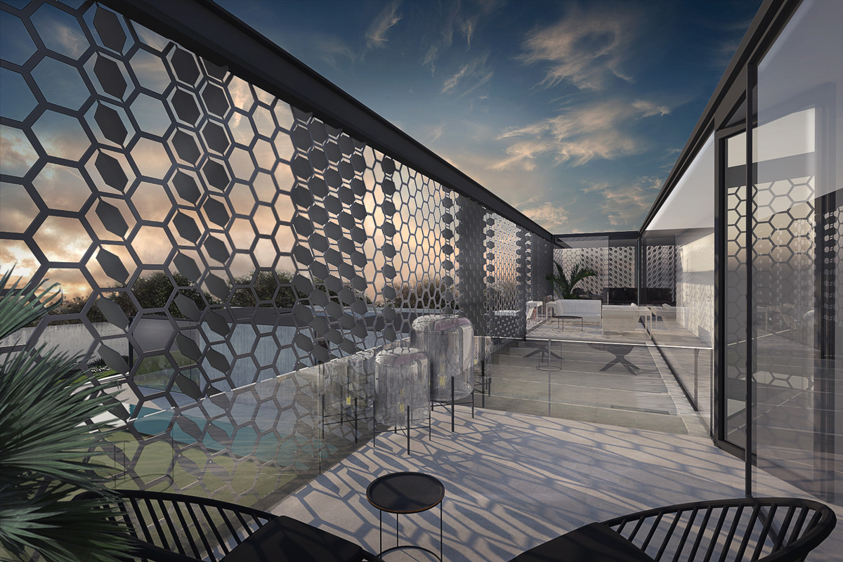 Maison-Abidjan-architecte-contemporain-grand-volume-_etage-terrasse-resille-metal-garde-corps-verre