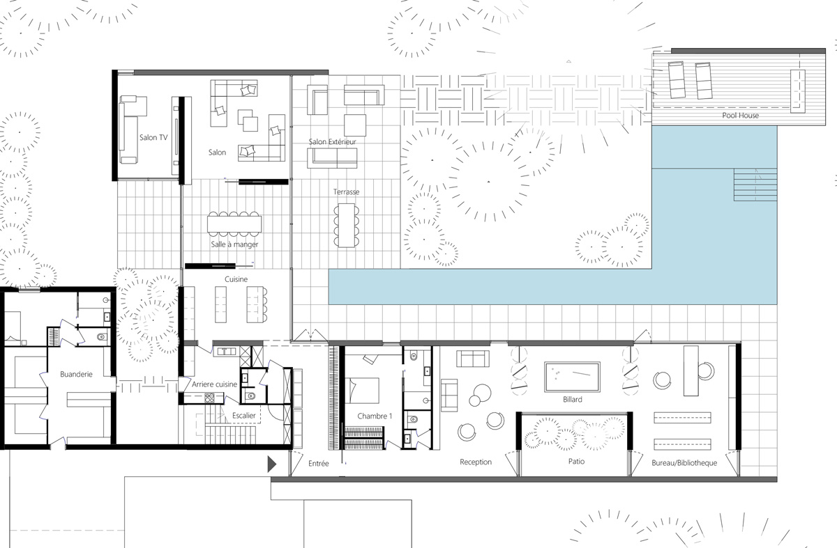 Maison-Abidjan-architecte-contemporain-grand-volume-_plan-fonctionnel_zoom