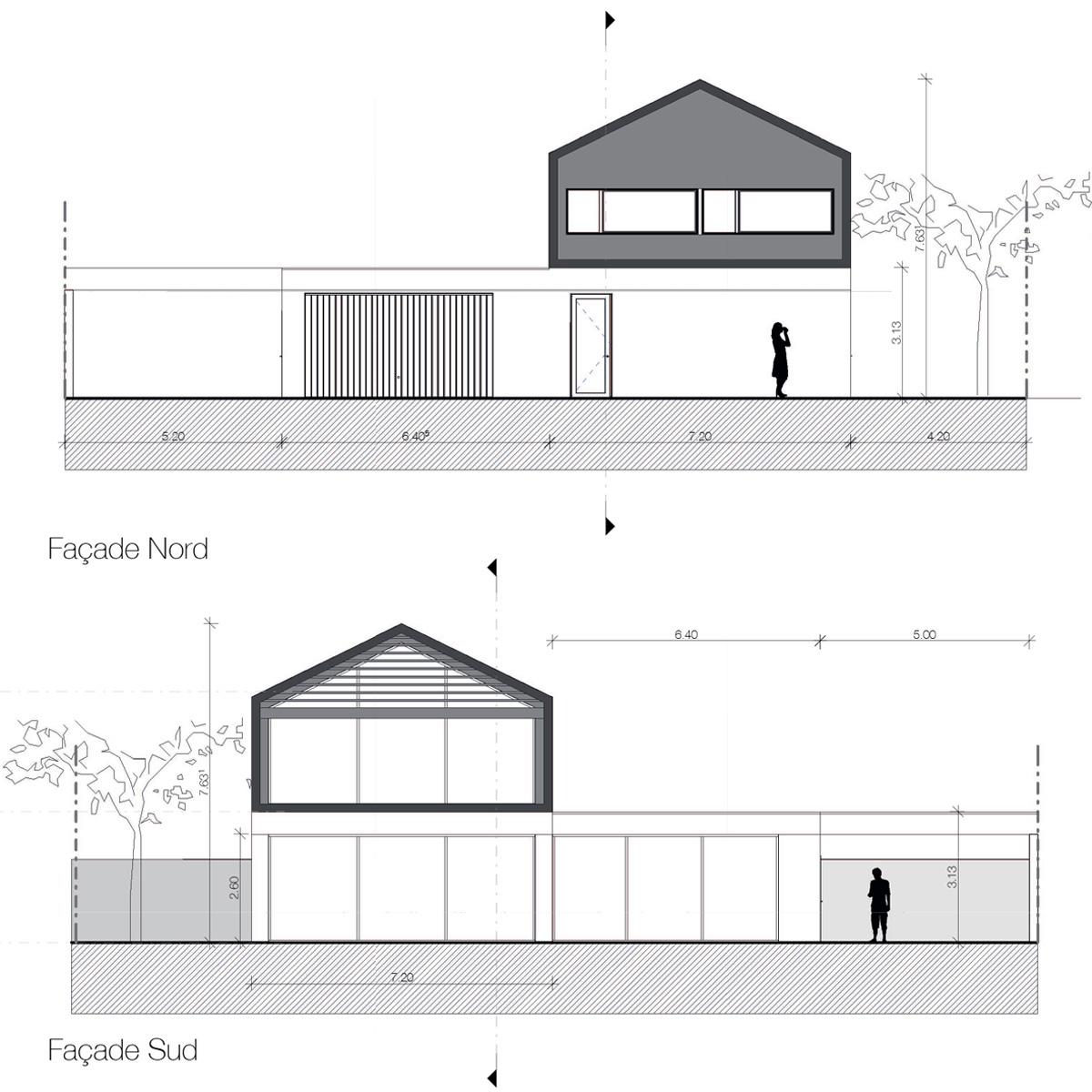Maison-contemporaine-architecte-Lyon-Facades-baie-vitree