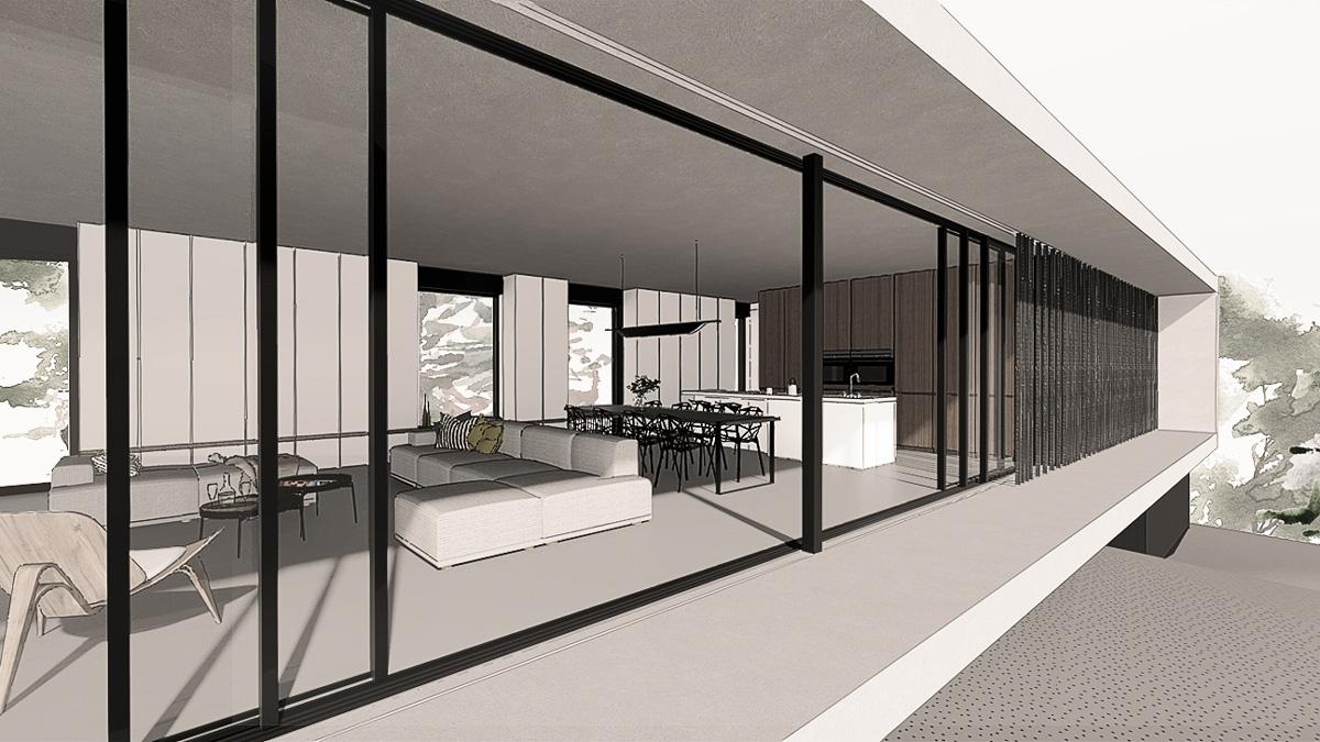 maison-contemporaine-minimaliste-beton-lyon-savoie-facade-baie-vitrée-coulissant-brise-soleil-architecte