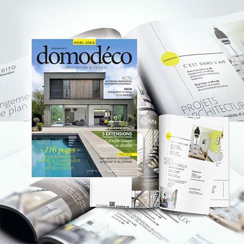 Dank Architectes fait la couverture de Domodéco spécial extensions