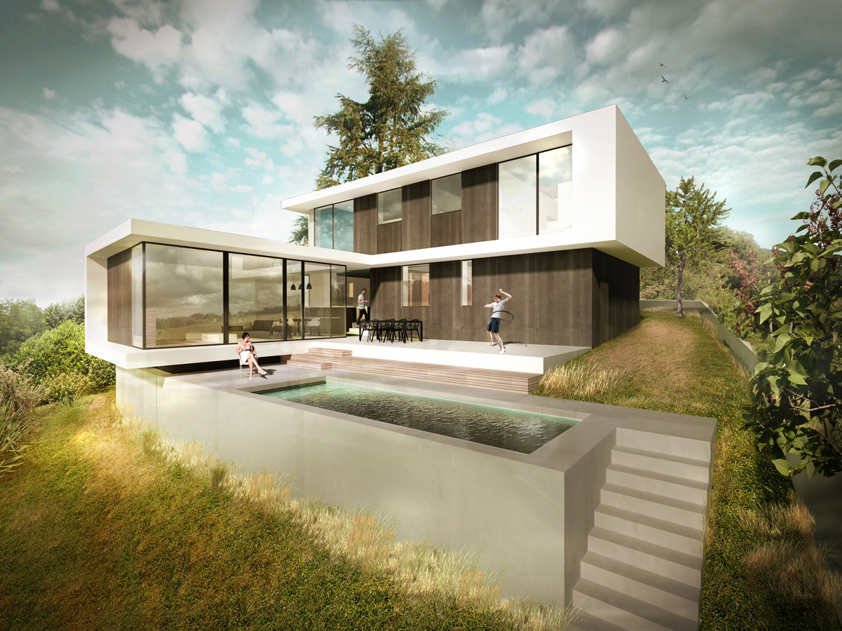 Construction Maison En Pente mpap - dank architectes
