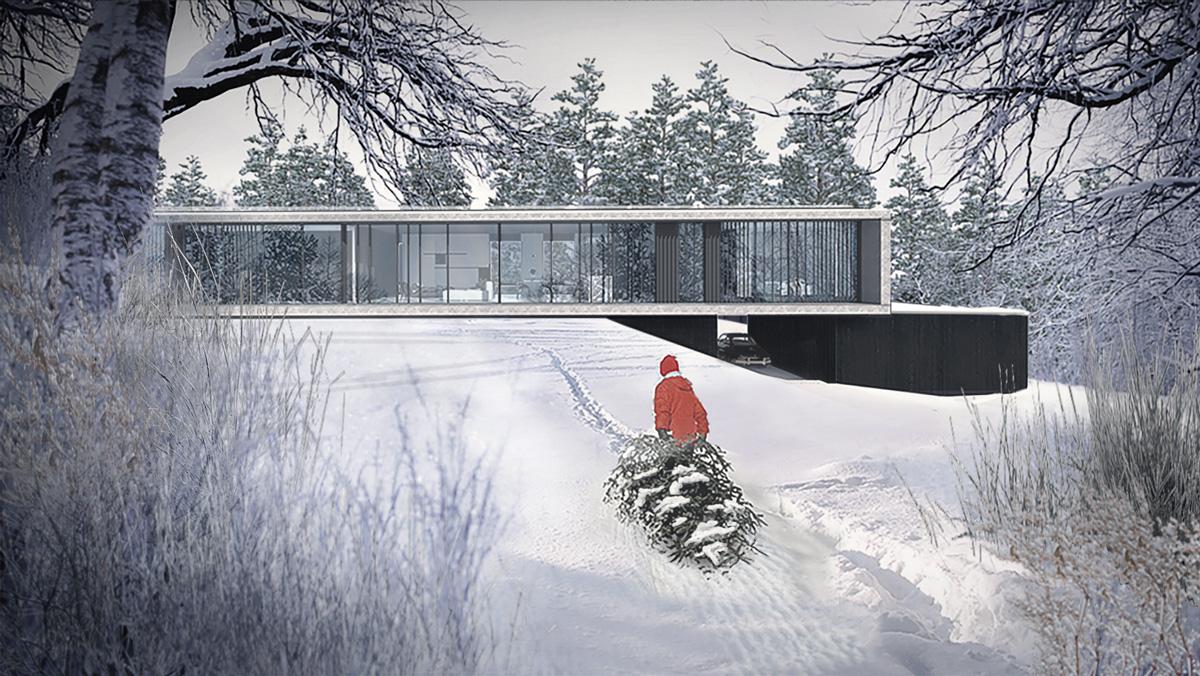 maison-contemporaine-minimaliste-beton-lyon-savoie-jardin-baies-vitrees-pente